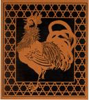 図案入り型紙 酉(とり:鶏)