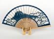 伊勢型紙の扇子「富士山」青¥8,640