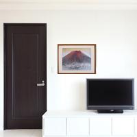 「赤富士」額縁のサイズ・イメージ