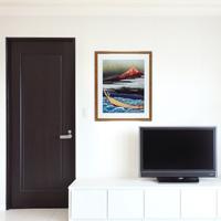 「富士遠望」額縁のサイズ・イメージ