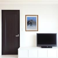 「山韻(剣岳)」額縁のサイズ・イメージ