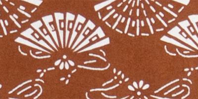 伊勢型紙の額:檜扇細部