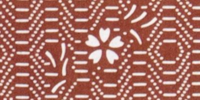 伊勢型紙の額:小紋桜細部