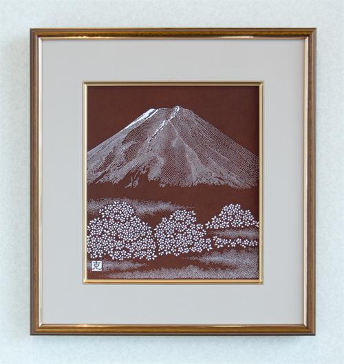 「富士に桜」