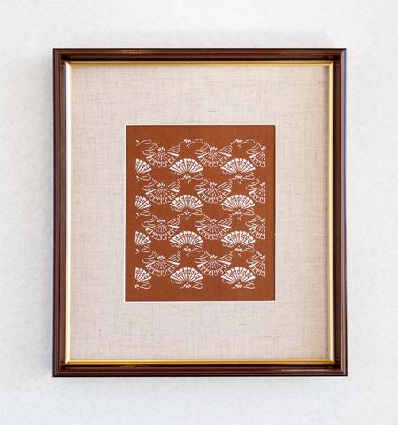 伊勢型紙の額:檜扇