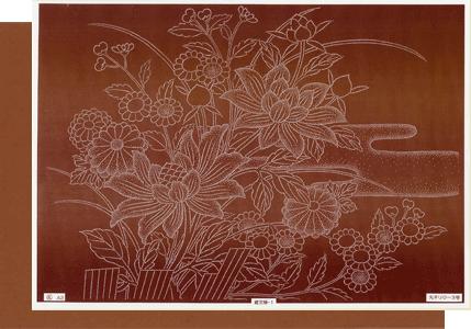 型紙付き図案:錐文様(A3サイズ)牡丹に菊¥1,944