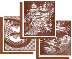 型紙付き図案「海の生き物」のページヘ