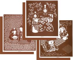 型紙付き図案「お雛様」のページヘ