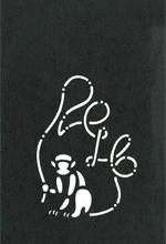 年賀状の型紙(申-3)