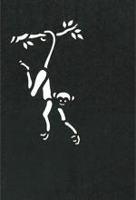 年賀状の型紙(申-6)