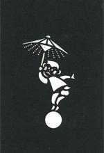 年賀状の型紙(申-8)
