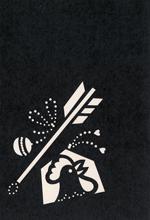 年賀状の型紙2017(酉-2)