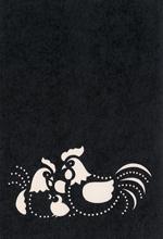 年賀状の型紙2017(酉-4)
