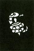 年賀状の型紙(巳-10)