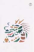 年賀状の型紙(辰-7)着色例