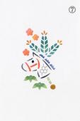 年賀状の型紙(午-7)着色例