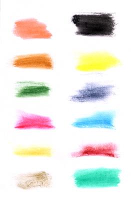 顔彩絵の具の発色
